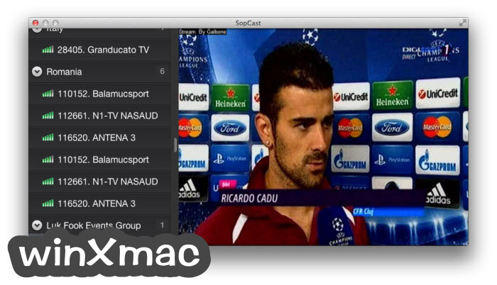 SopCast for Mac Screenshot 1