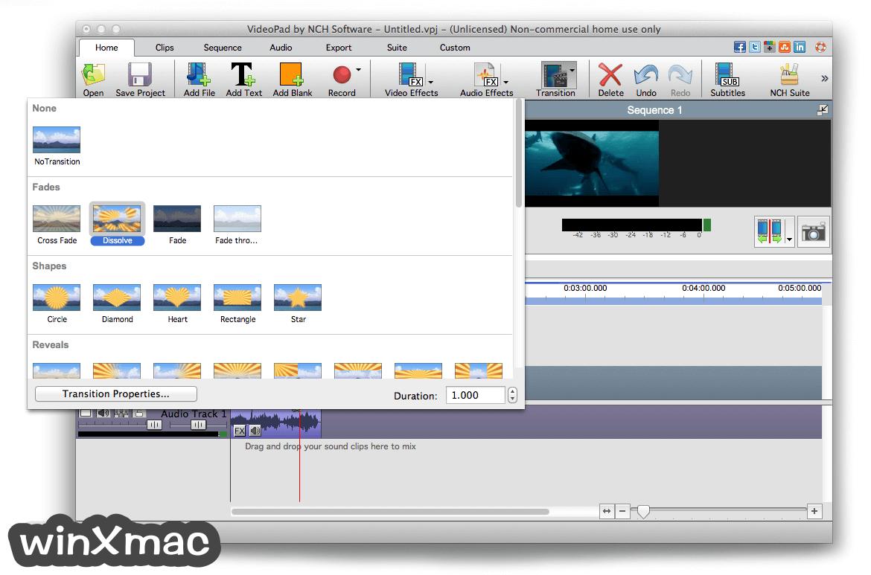 VideoPad Video Editor for Mac Screenshot 2