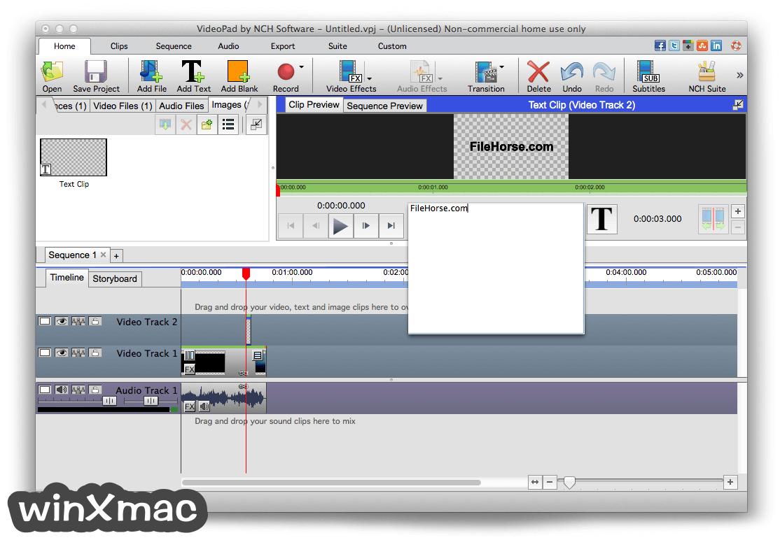 VideoPad Video Editor for Mac Screenshot 4