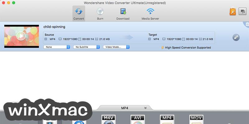 Wondershare Video Converter for Mac Screenshot 1