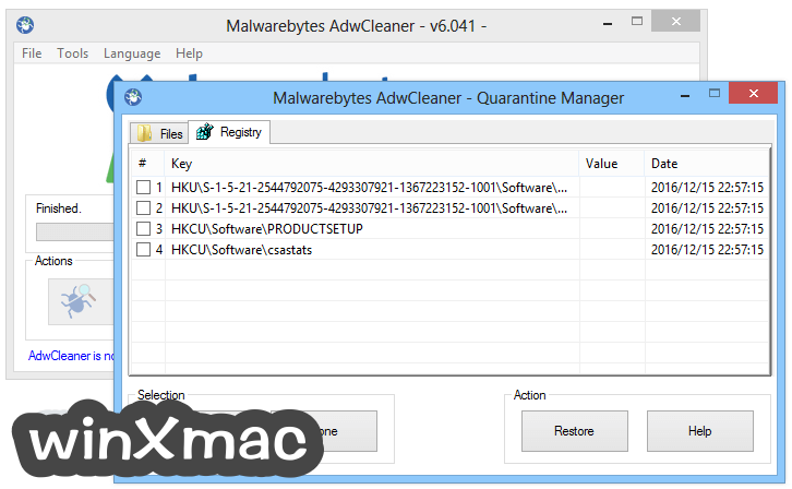 AdwCleaner Screenshot 4