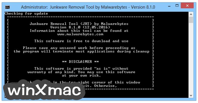 Junkware Removal Tool Screenshot 1