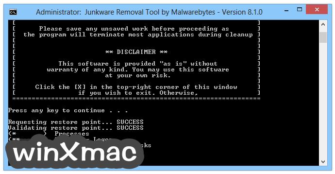 Junkware Removal Tool Screenshot 2