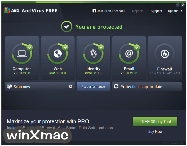 AVG AntiVirus Free (32-bit) Screenshot 1