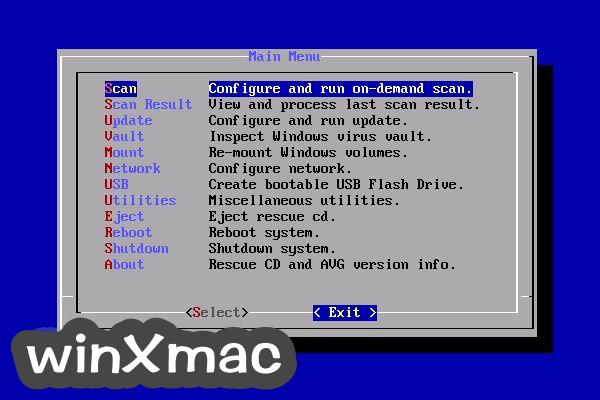 AVG Rescue CD Screenshot 3