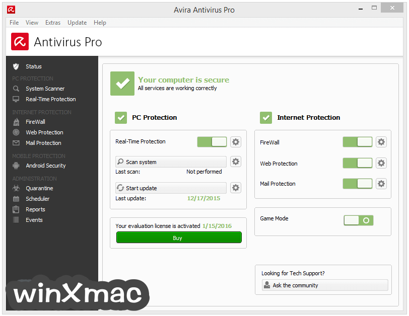 Avira Antivirus Pro Screenshot 1