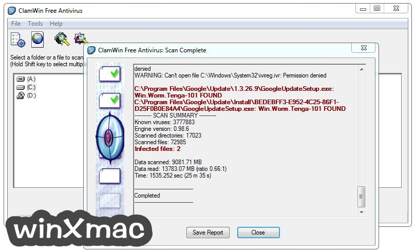 ClamWin Antivirus Screenshot 2