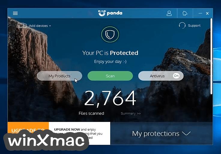 Panda Free AntiVirus Screenshot 1