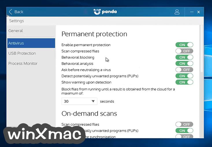 Panda Free AntiVirus Screenshot 3