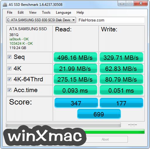 AS SSD Benchmark Screenshot 1
