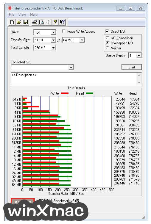ATTO Disk Benchmark Screenshot 1