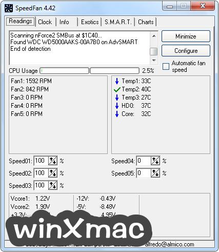 SpeedFan Screenshot 1