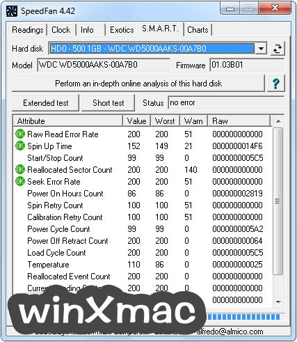 SpeedFan Screenshot 4