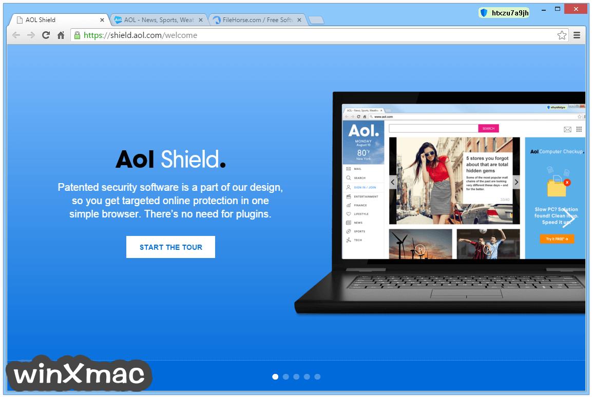 AOL Shield Browser Screenshot 1
