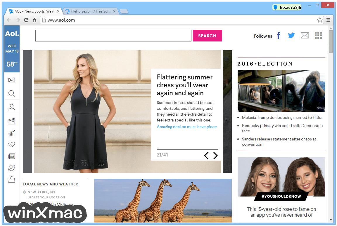 AOL Shield Browser Screenshot 2