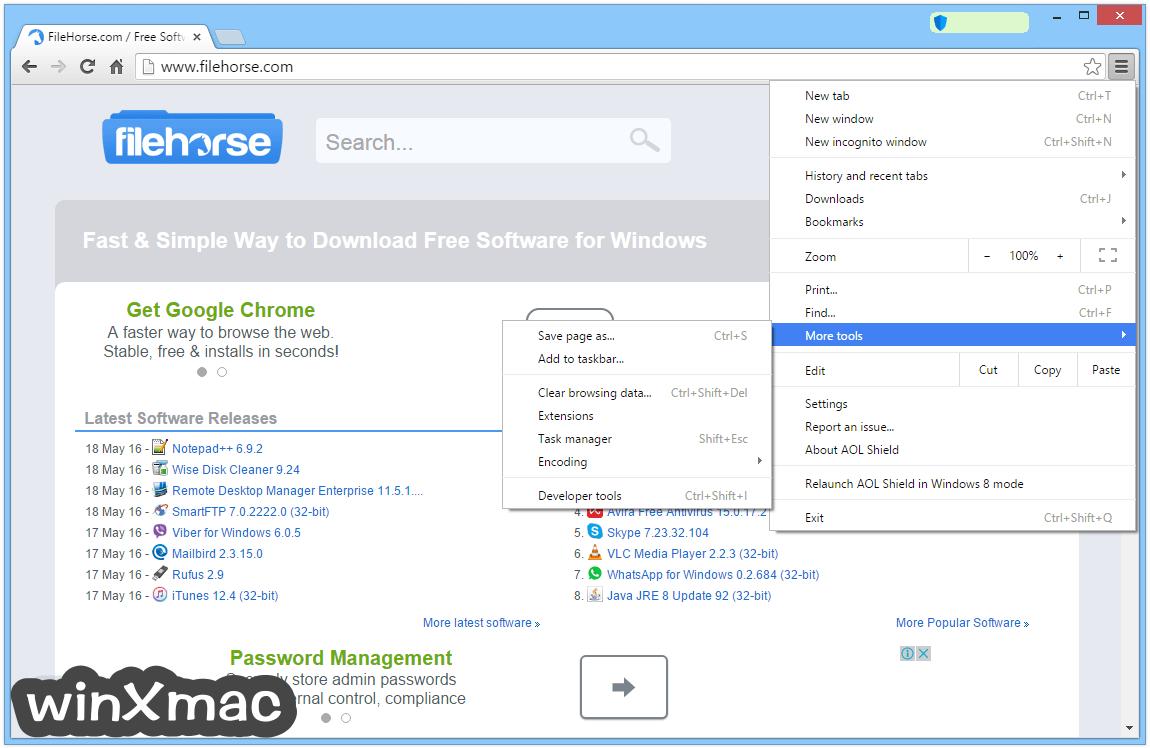 AOL Shield Browser Screenshot 4