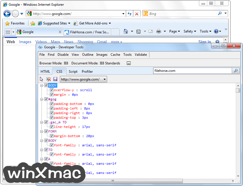 Internet Explorer (XP) Screenshot 4