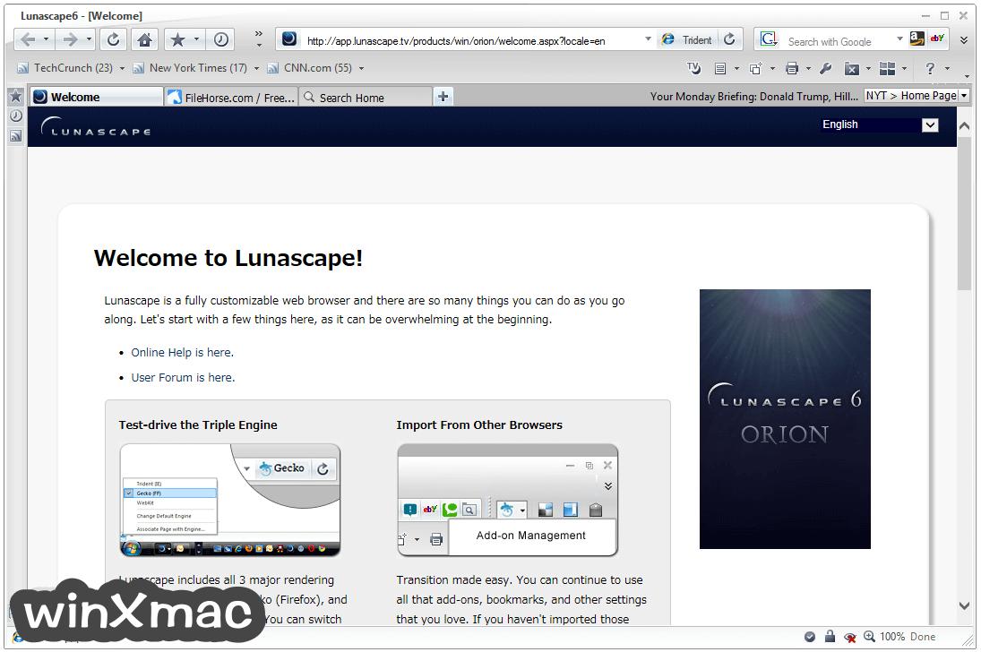 Lunascape Browser Screenshot 1