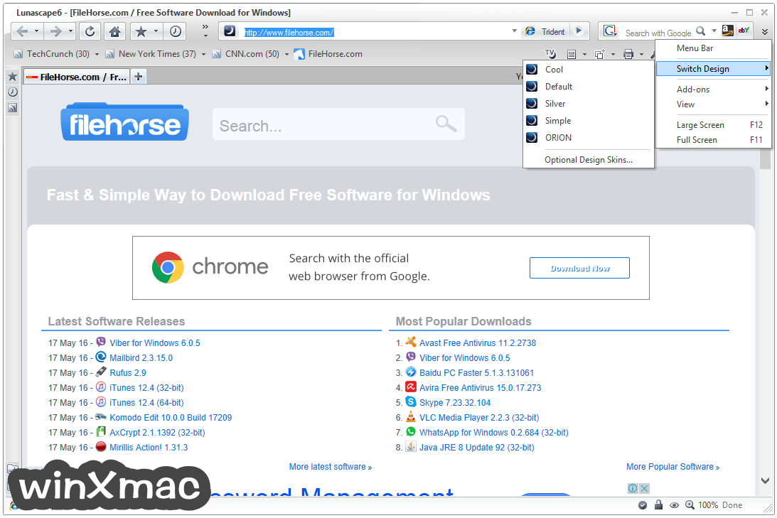 Lunascape Browser Screenshot 4