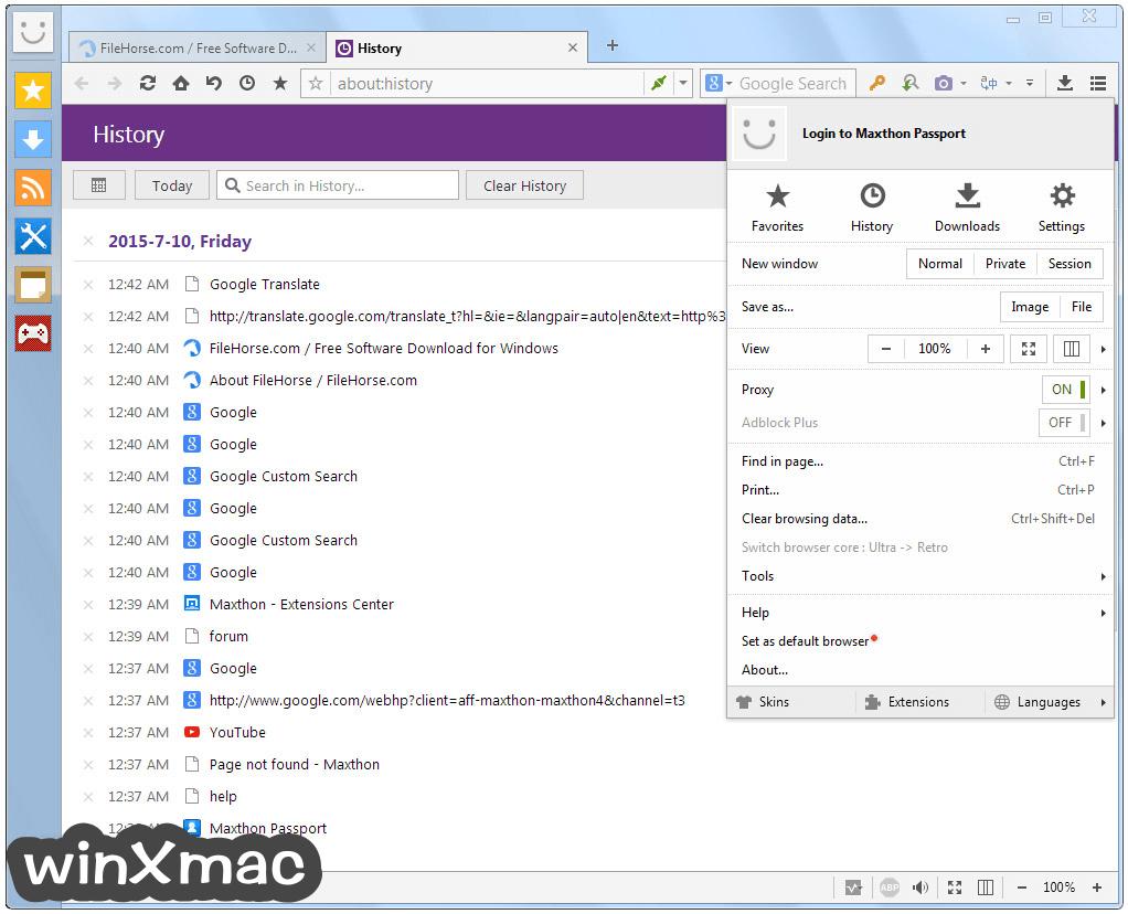 Maxthon Screenshot 4