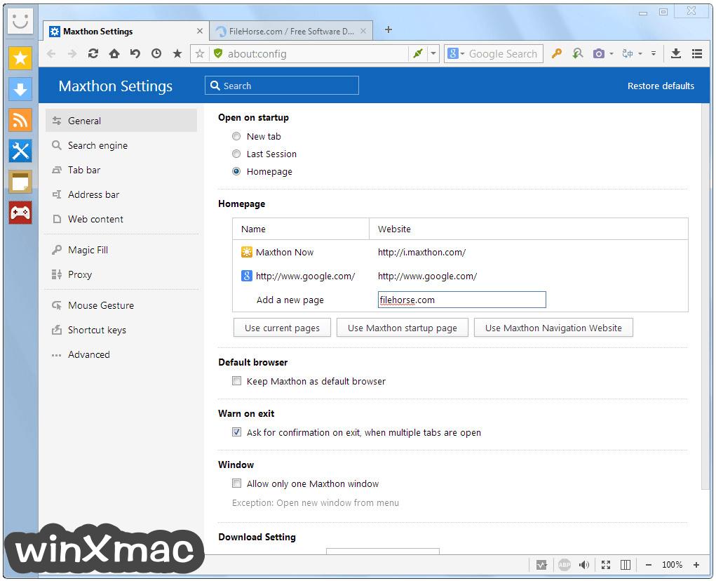 Maxthon Screenshot 5