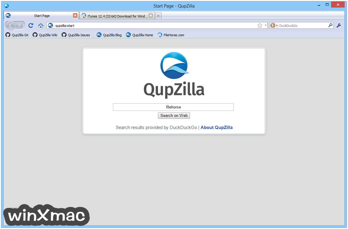 QupZilla Browser Screenshot 1
