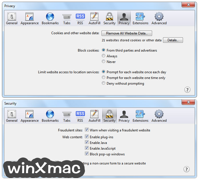 Safari for Windows Screenshot 4