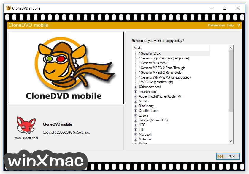 CloneDVD Mobile Screenshot 1