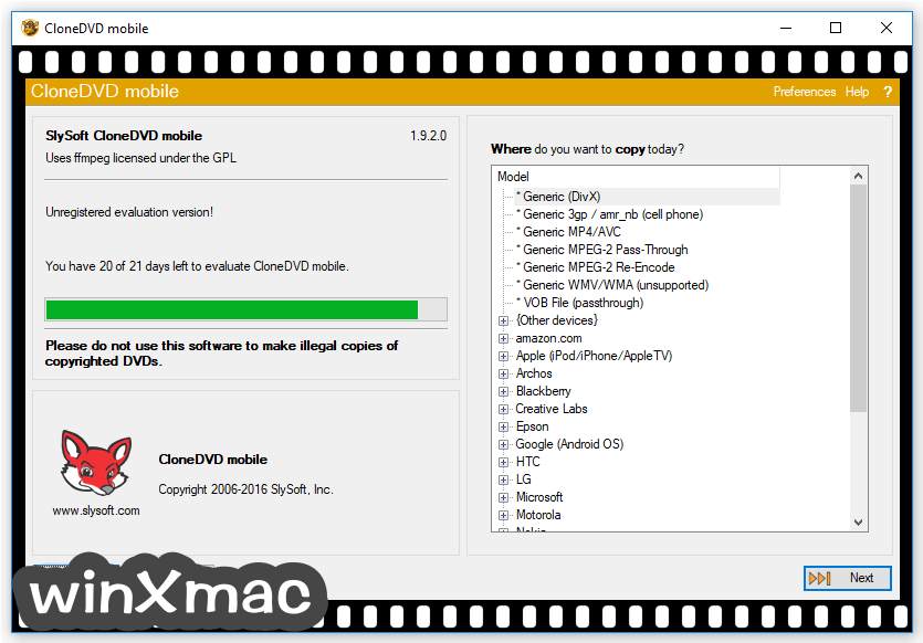 CloneDVD Mobile Screenshot 2
