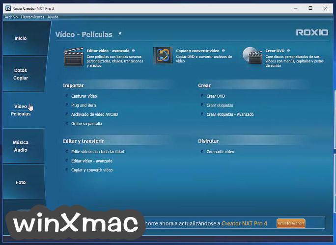 Roxio Creator NXT Pro Screenshot 3