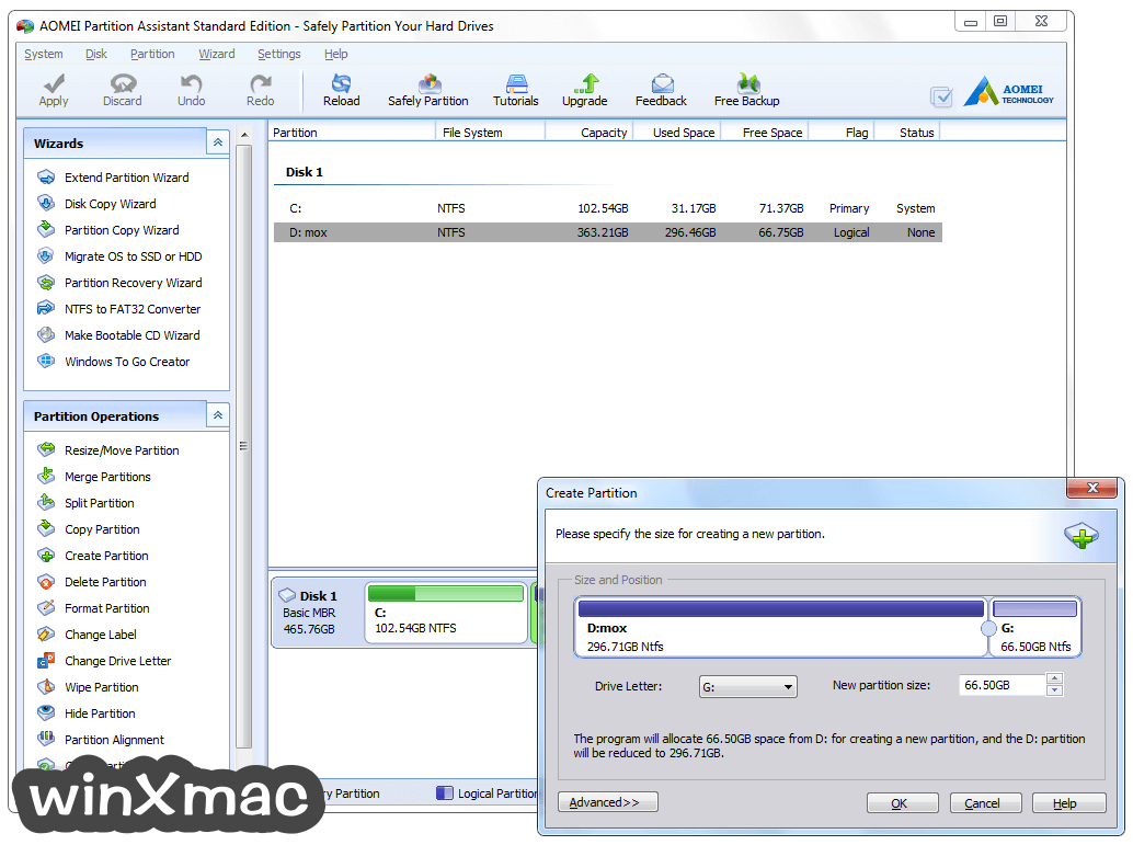 AOMEI Partition Assistant Screenshot 2