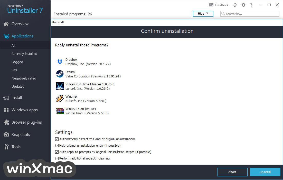 Ashampoo UnInstaller Screenshot 2