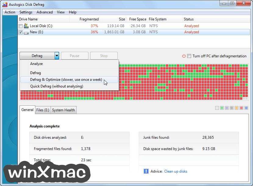 Auslogics Disk Defrag Screenshot 1