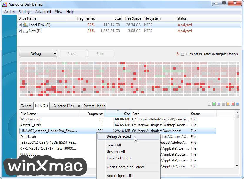 Auslogics Disk Defrag Screenshot 4