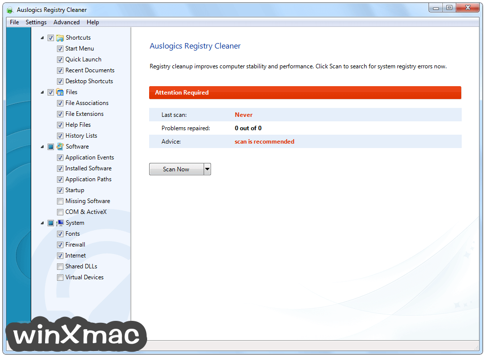 Auslogics Registry Cleaner Screenshot 1