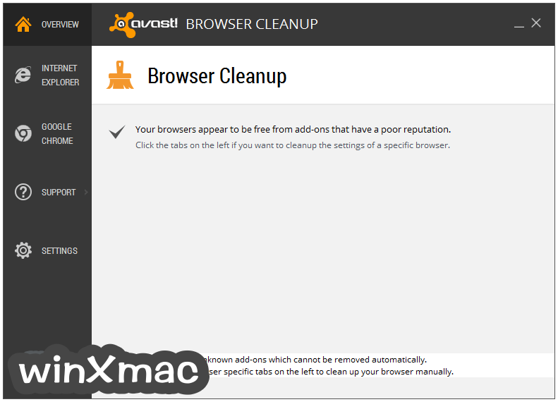 Avast Browser Cleanup Screenshot 1