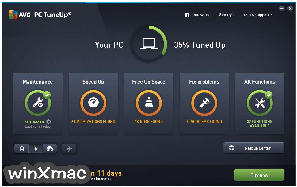 AVG PC TuneUp (32-bit) Screenshot 1