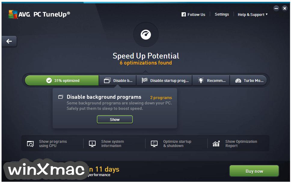AVG PC TuneUp (32-bit) Screenshot 2