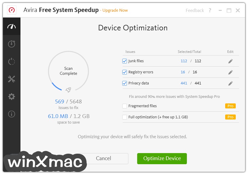 Avira System Speedup Screenshot 2