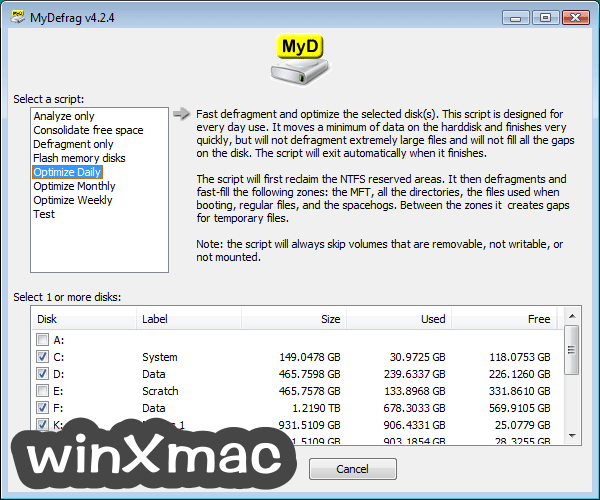 MyDefrag Screenshot 1