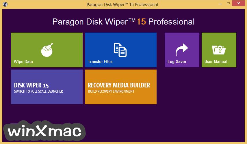 Paragon Disk Wiper (64-bit) Screenshot 1