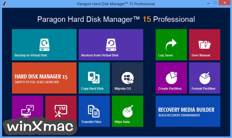 Paragon Hard Disk Manager (64-bit) Screenshot 1