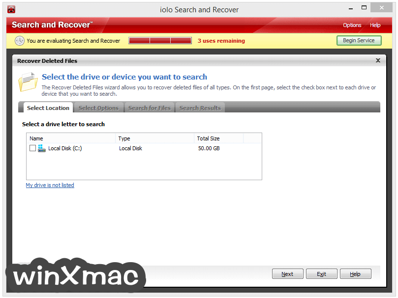 Search and Recover Screenshot 2