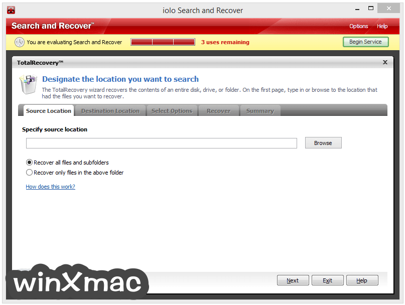 Search and Recover Screenshot 4