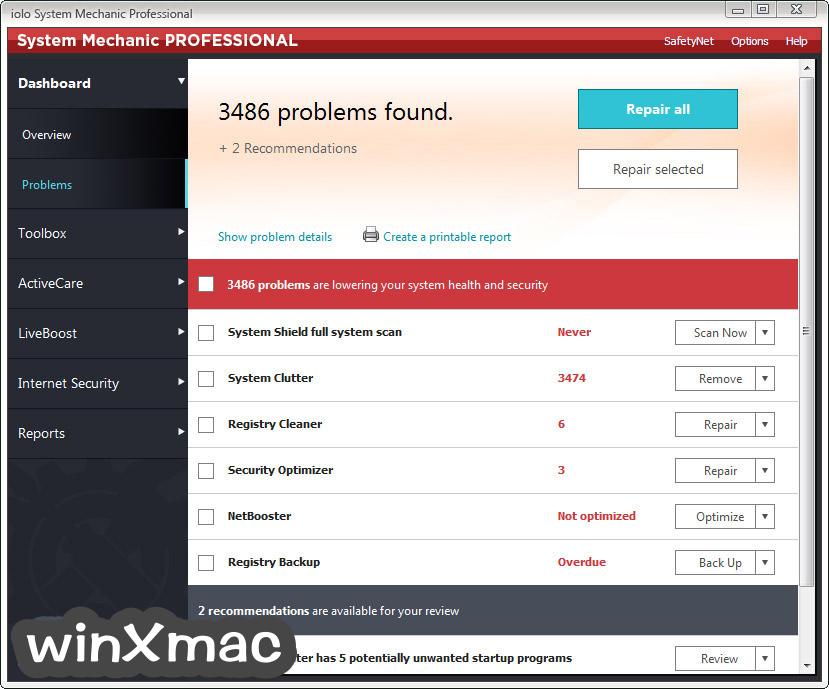 System Mechanic Professional Screenshot 2