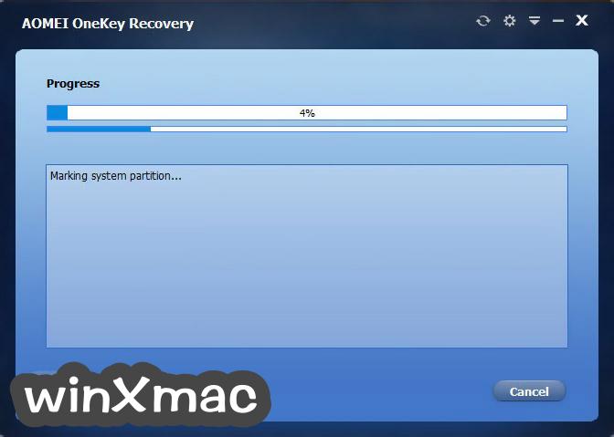 AOMEI OneKey Recovery Screenshot 4