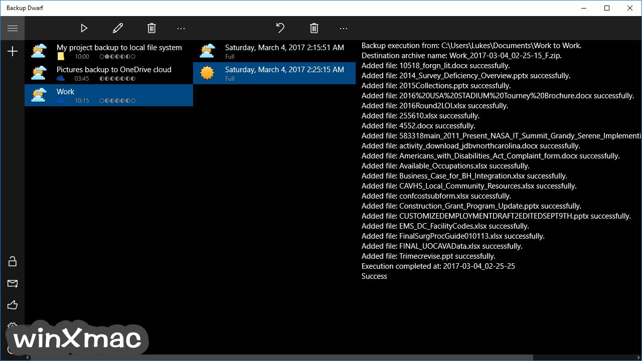 Backup Dwarf Screenshot 1