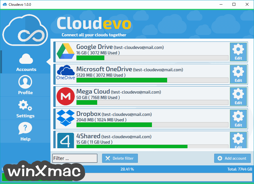 Cloudevo Screenshot 1