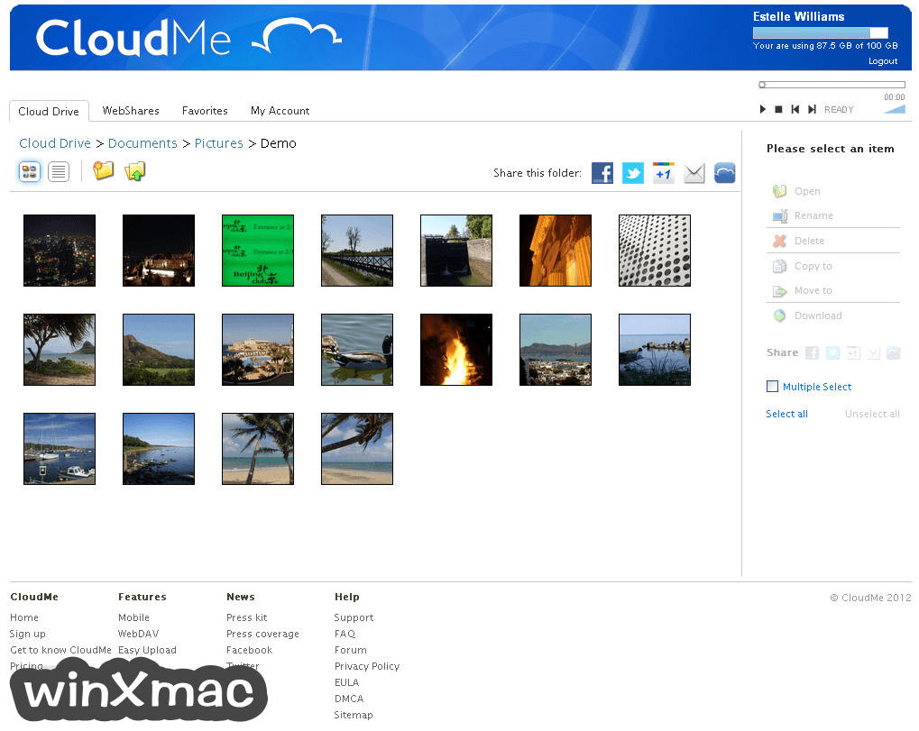 CloudMe Desktop Screenshot 1