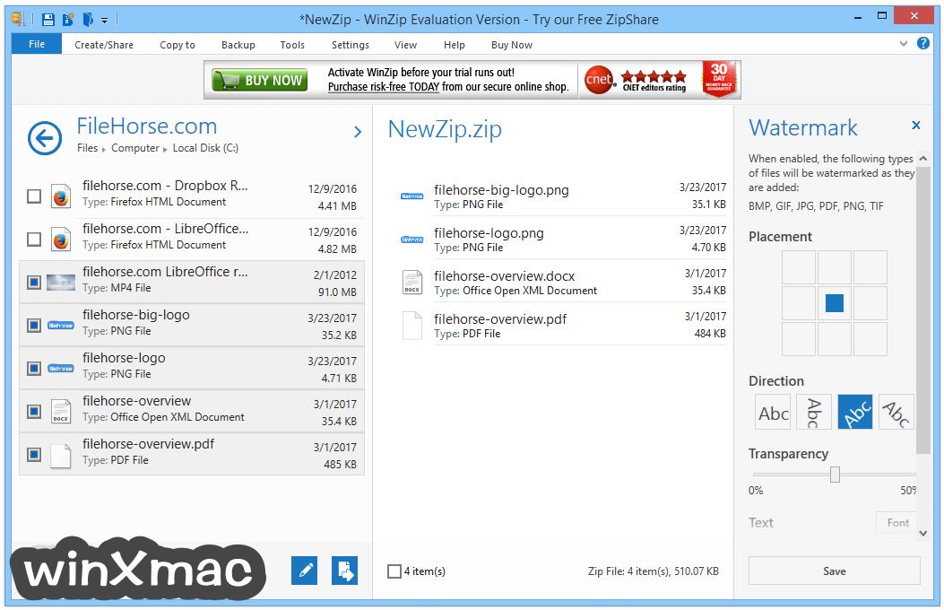 WinZip (32-bit) Screenshot 3